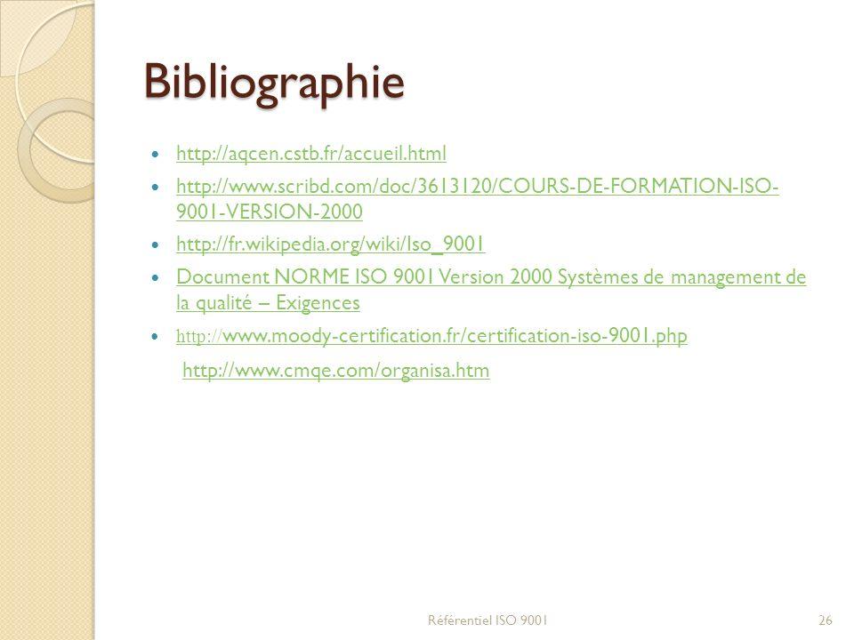 Bibliographie http://aqcen.cstb.fr/accueil.html