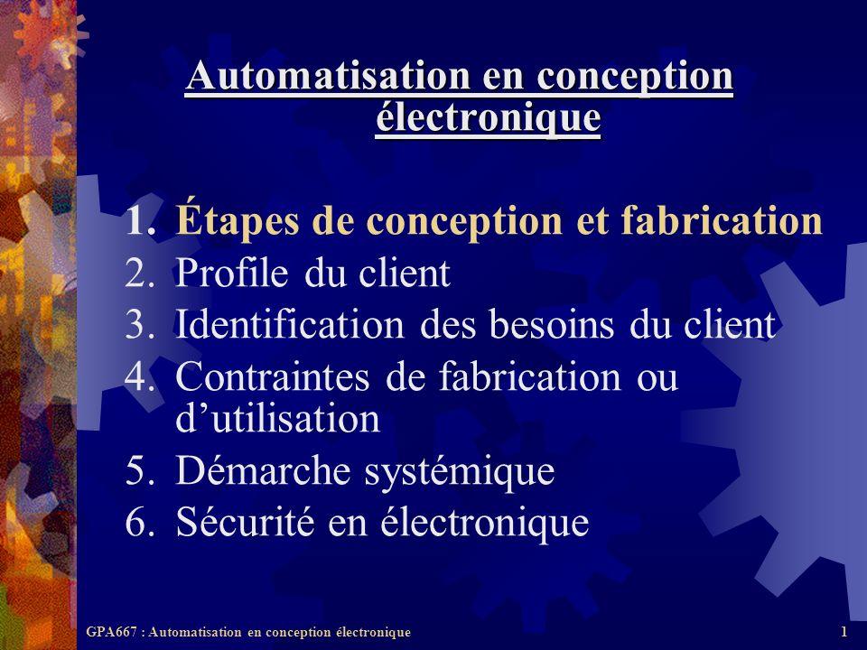 Automatisation en conception électronique