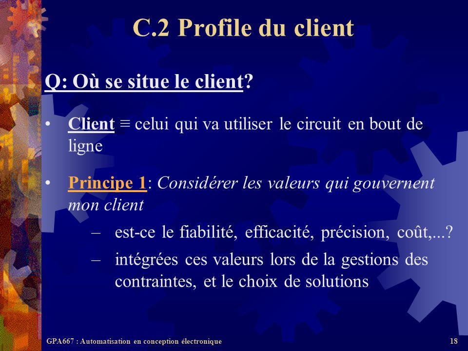 C.2 Profile du client Q: Où se situe le client