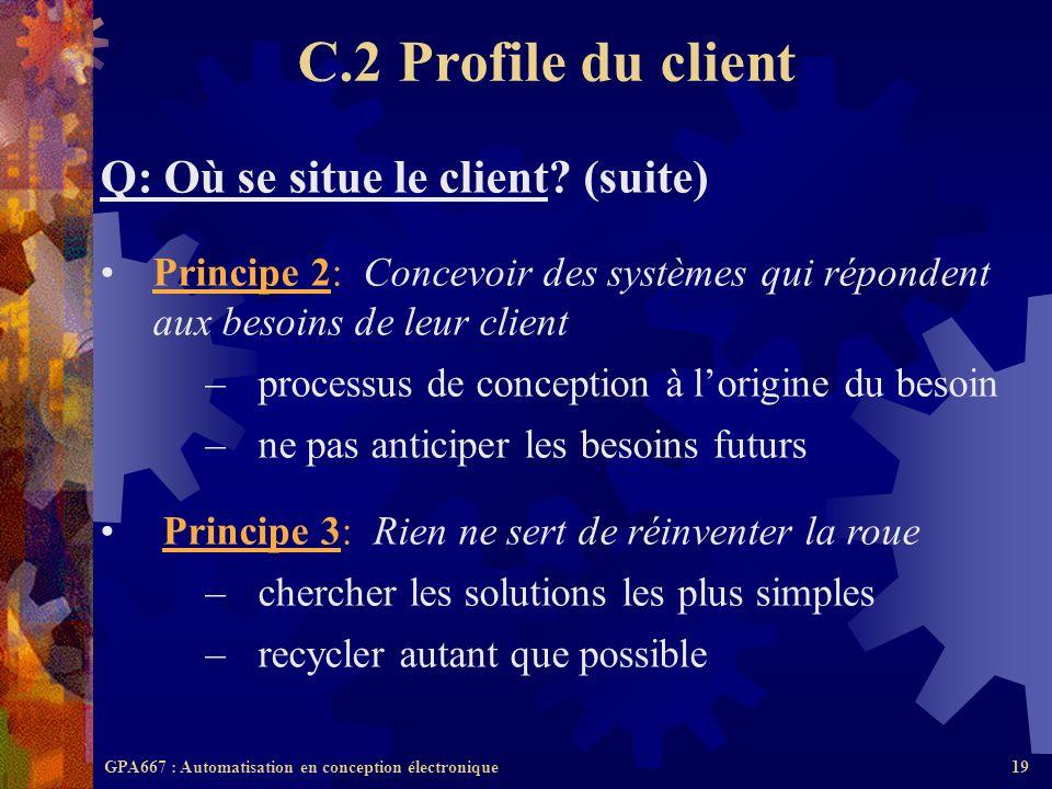 C.2 Profile du client Q: Où se situe le client (suite)