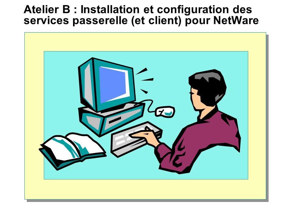 Atelier B : Installation et configuration des services passerelle (et client) pour NetWare