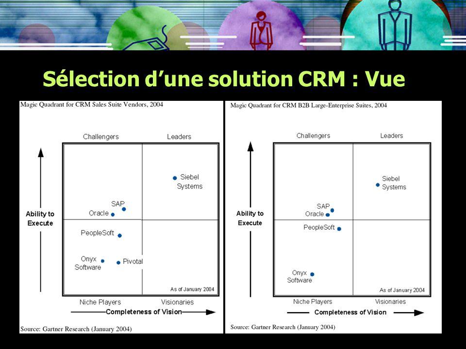 Sélection d'une solution CRM : Vue