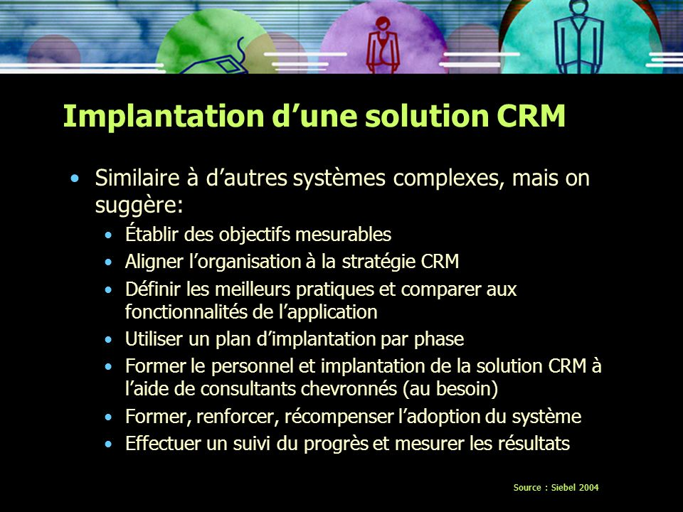 Implantation d'une solution CRM