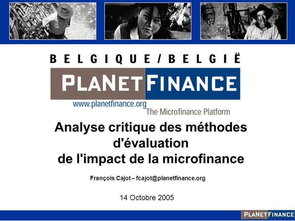 Analyse critique des méthodes d évaluation