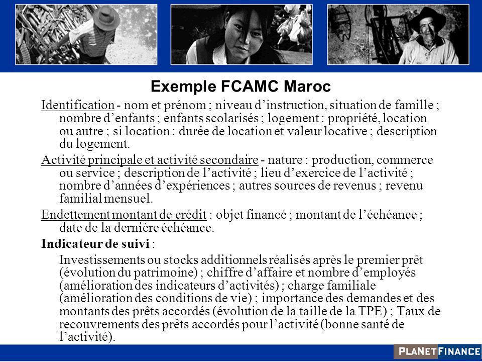Exemple FCAMC Maroc