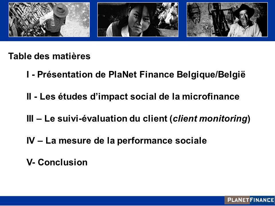 II - Les études d'impact social de la microfinance