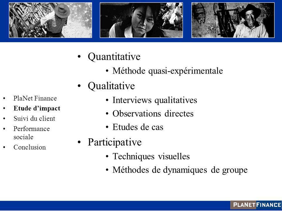 Quantitative Qualitative Participative Méthode quasi-expérimentale