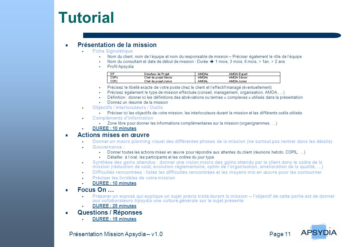 Présentation Mission Apsydia – v1.0
