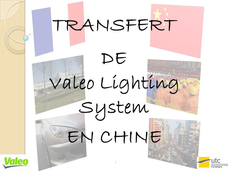 TRANSFERT DE Valeo Lighting System EN CHINE