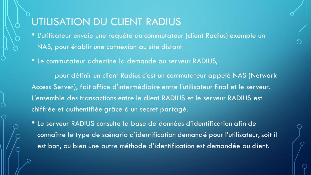 Utilisation du client radius