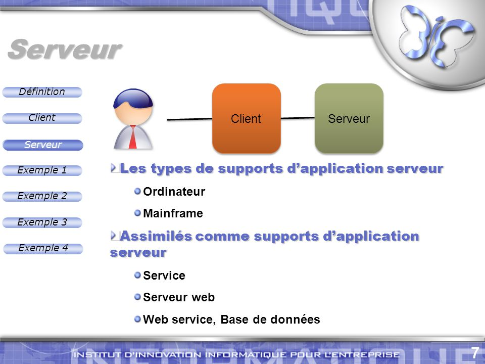 Serveur Les types de supports d'application serveur