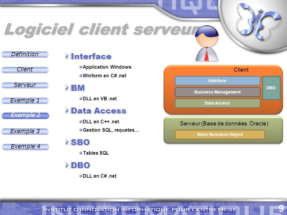 Logiciel client serveur