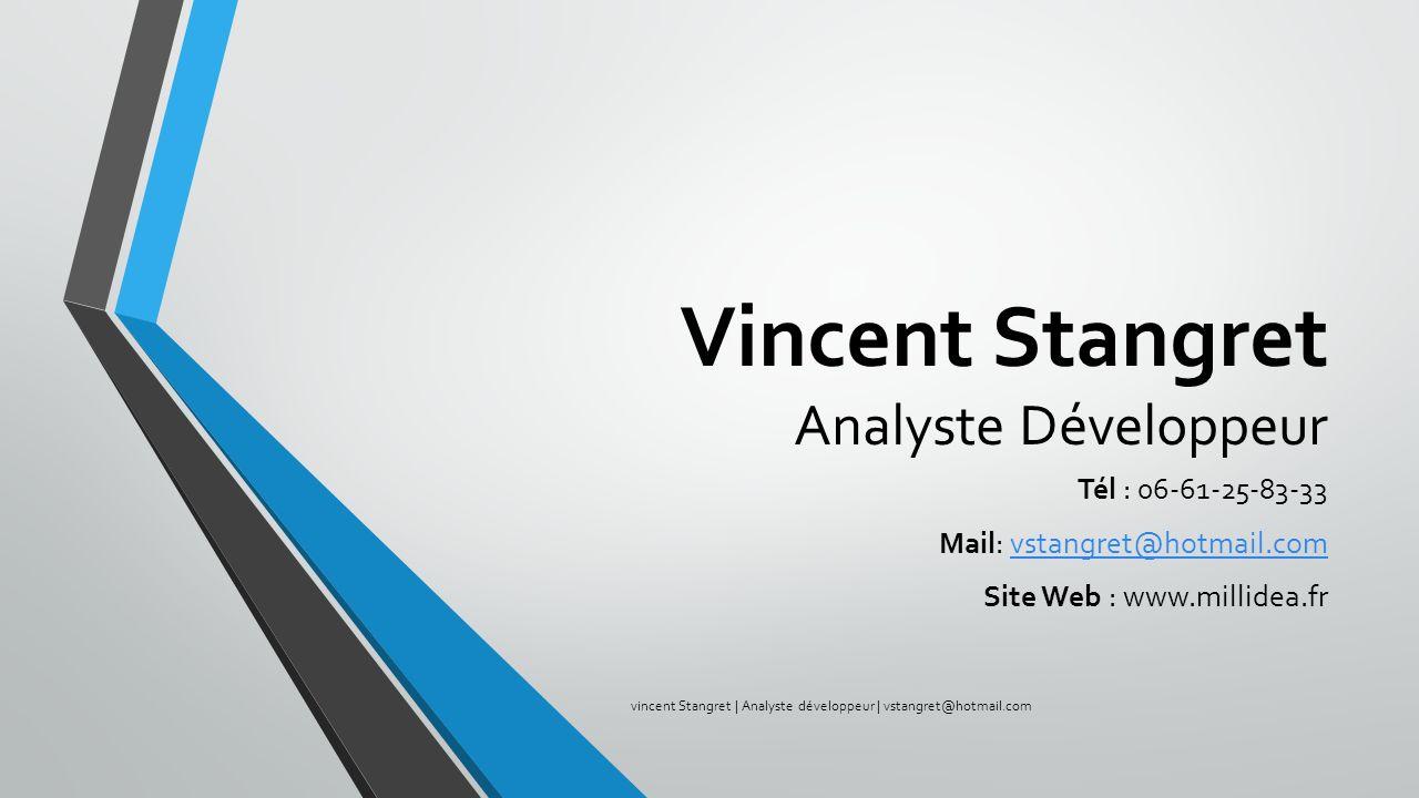 Vincent Stangret Analyste Développeur