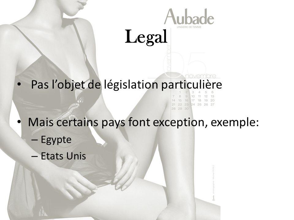 Legal Pas l'objet de législation particulière