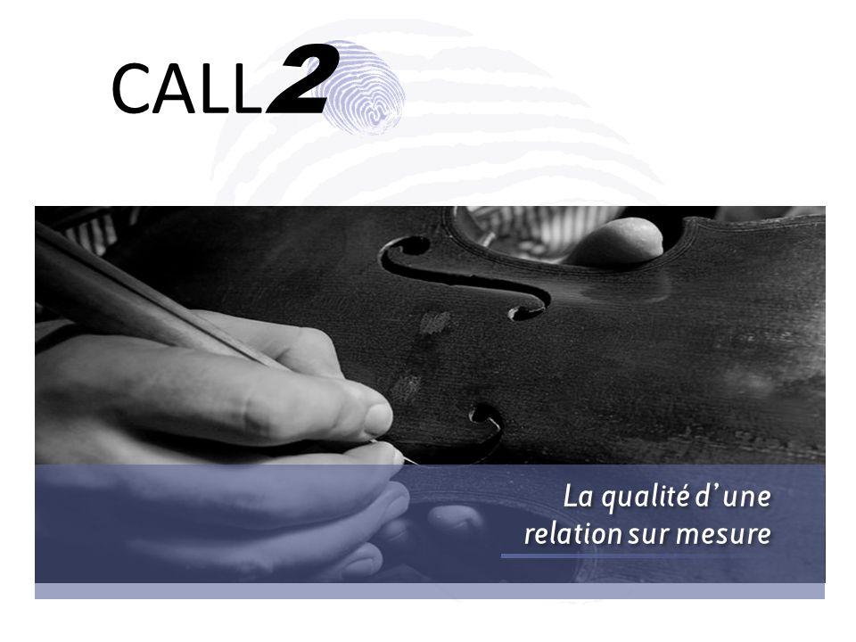 31/03/2017 CALL2 La qualité d'une relation sur mesure