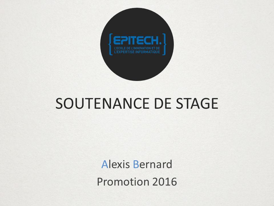Alexis Bernard Promotion 2016