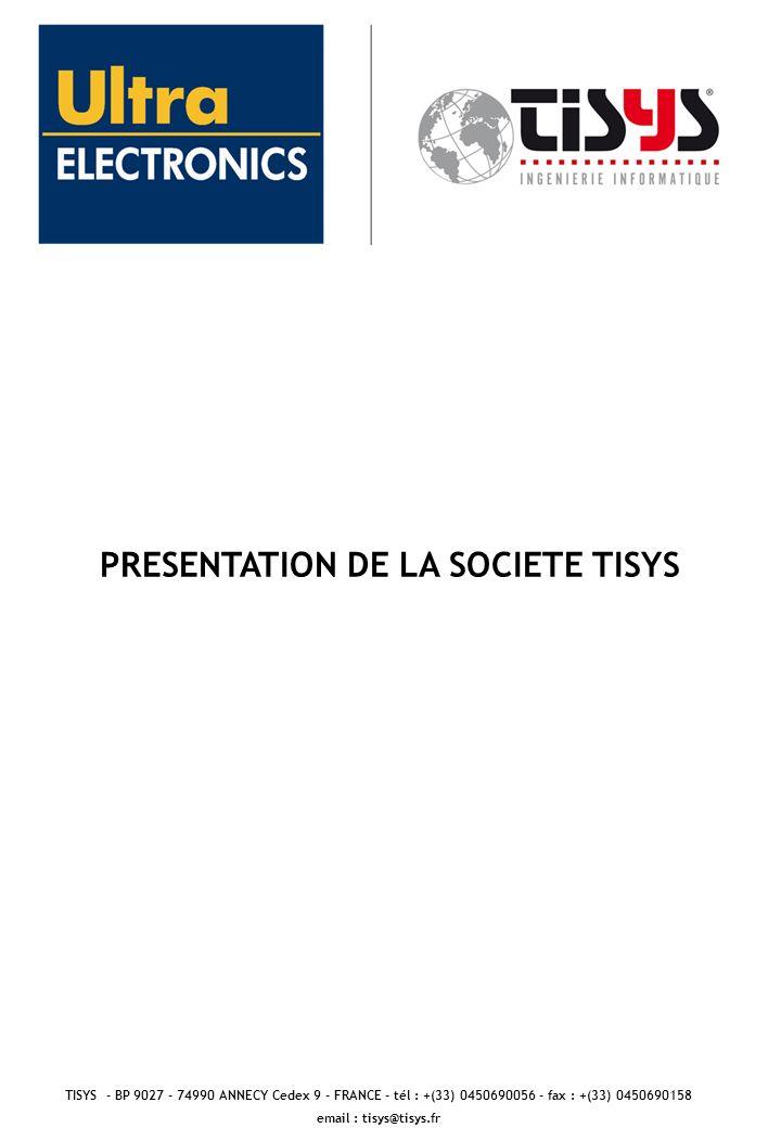 PRESENTATION DE LA SOCIETE TISYS