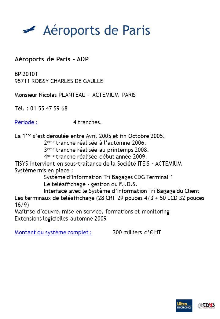 Aéroports de Paris Aéroports de Paris – ADP BP 20101