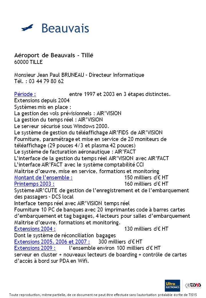 Beauvais Aéroport de Beauvais - Tillé 60000 TILLE