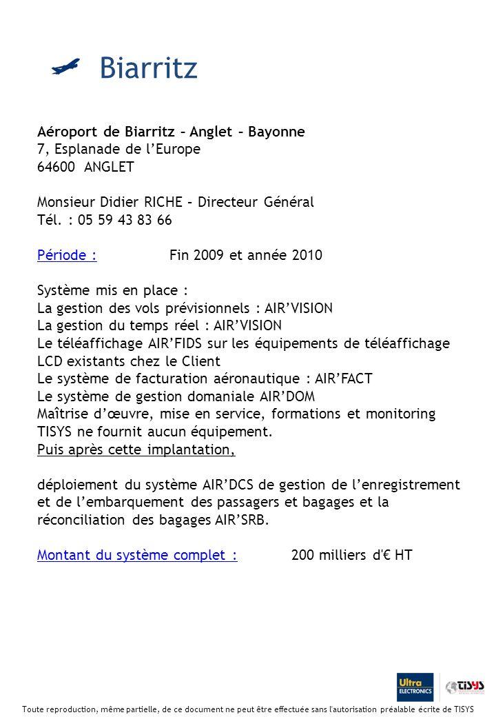 Biarritz Aéroport de Biarritz – Anglet – Bayonne