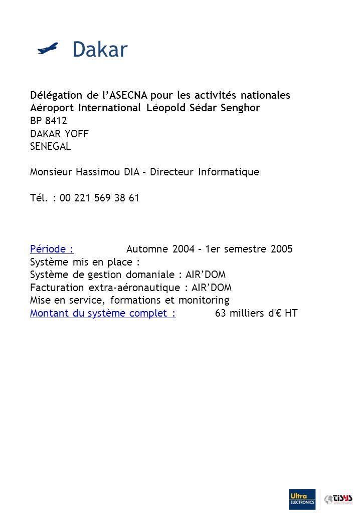 Dakar Délégation de l'ASECNA pour les activités nationales