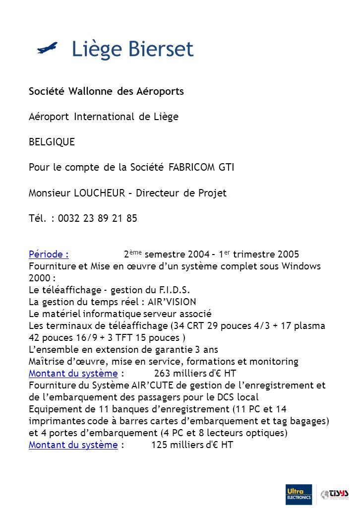 Liège Bierset Société Wallonne des Aéroports