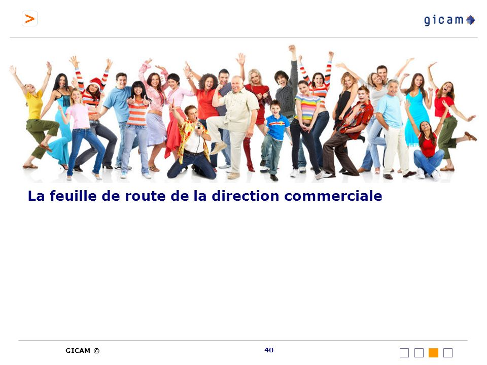 La feuille de route de la direction commerciale