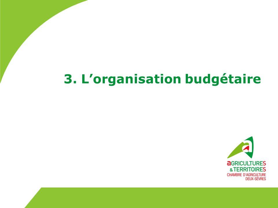 3. L'organisation budgétaire