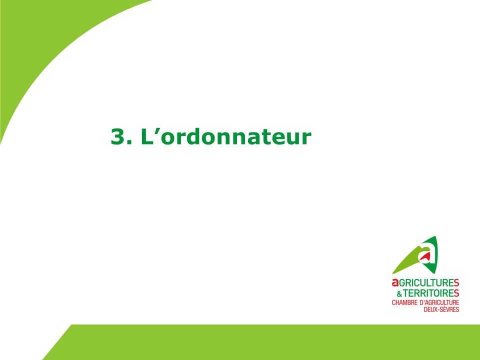 3. L'ordonnateur