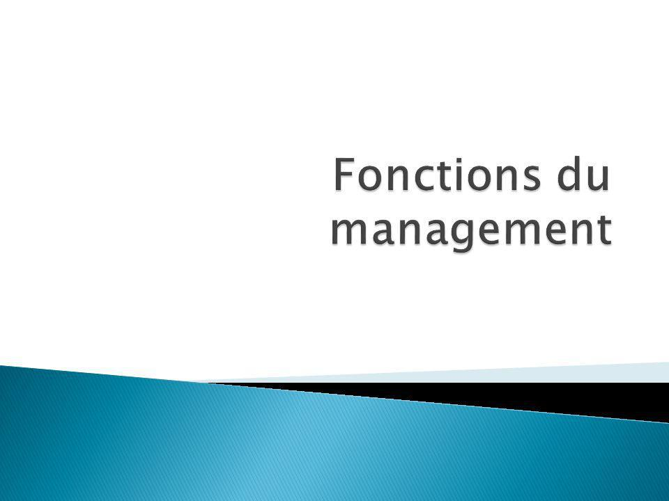 Fonctions du management