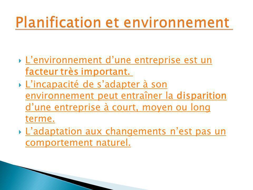 Planification et environnement
