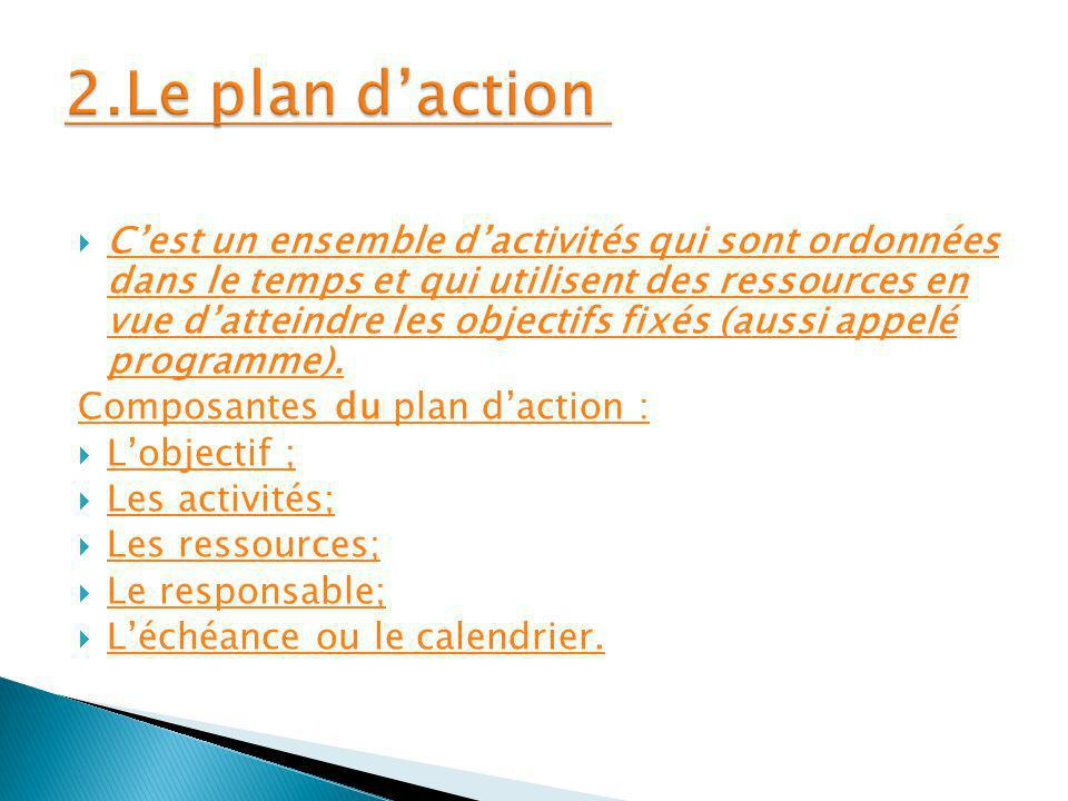 2.Le plan d'action