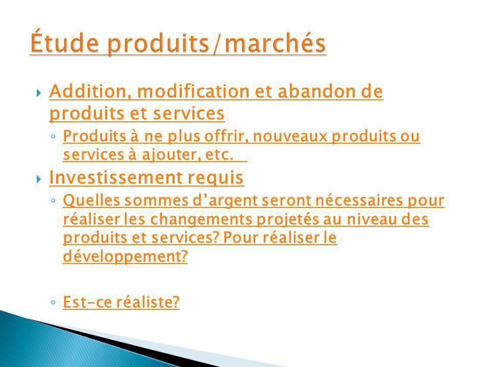Étude produits/marchés