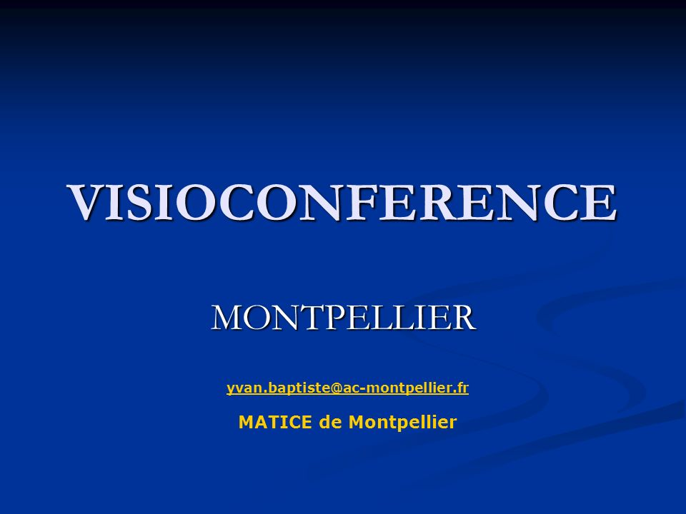 VISIOCONFERENCE MONTPELLIER MATICE de Montpellier