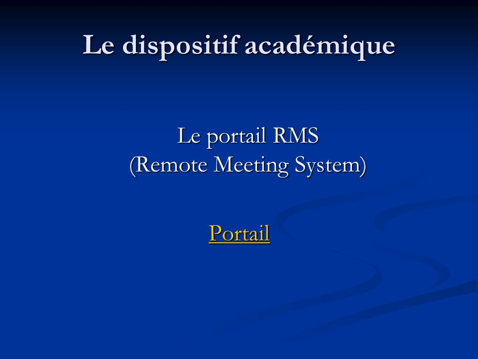 Le dispositif académique