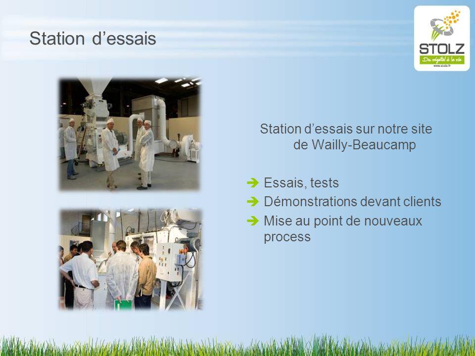 Station d'essais sur notre site de Wailly-Beaucamp