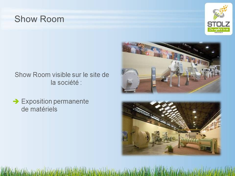 Show Room visible sur le site de la société :