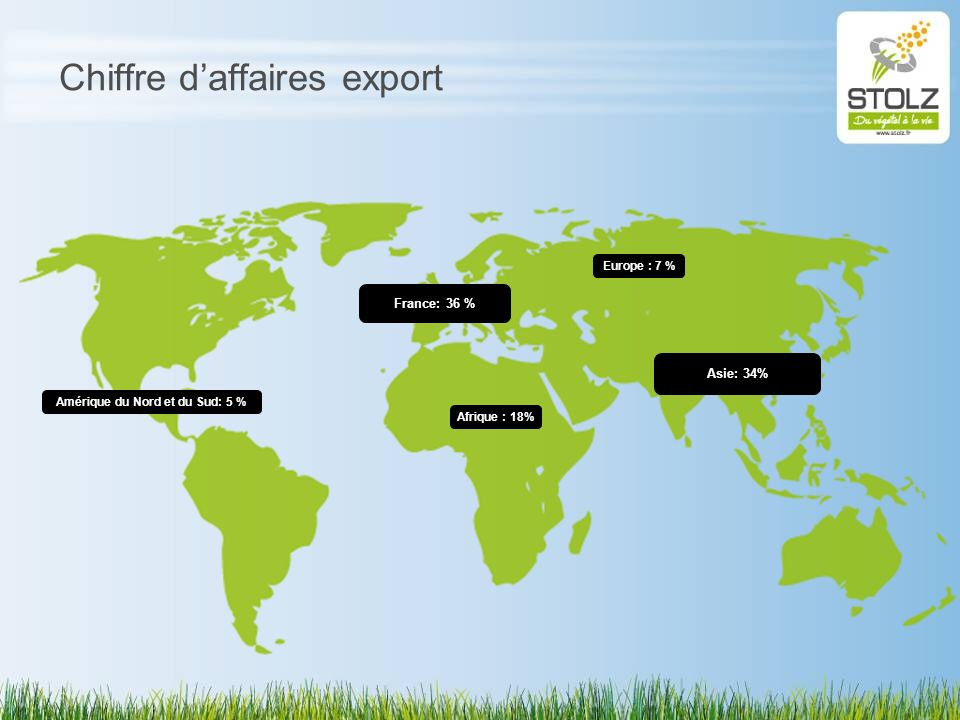 Chiffre d'affaires export