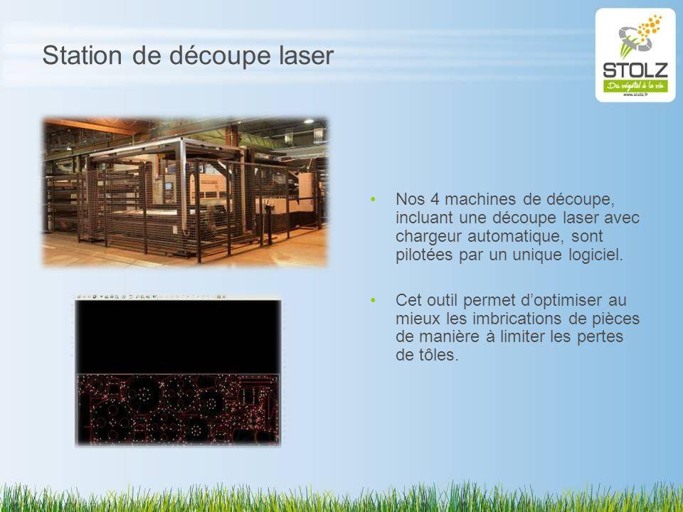 Station de découpe laser