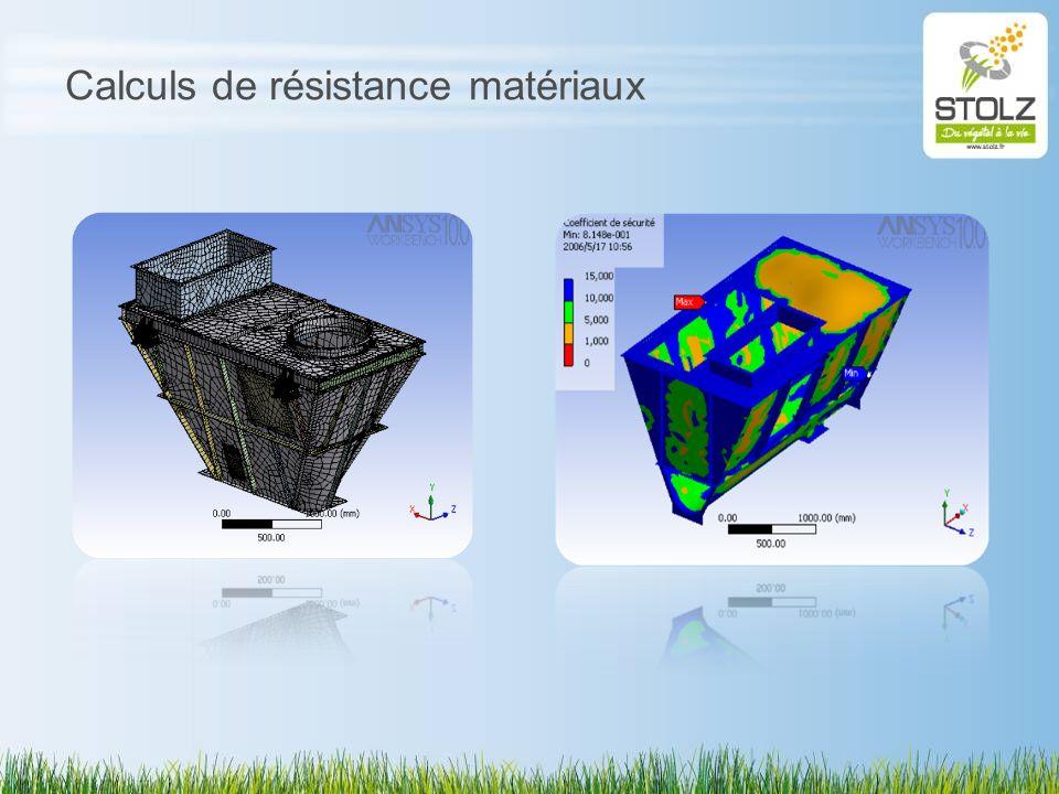 Calculs de résistance matériaux