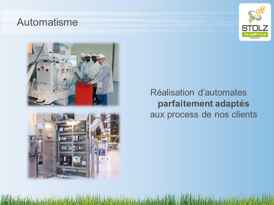 Automatisme Réalisation d'automates parfaitement adaptés aux process de nos clients