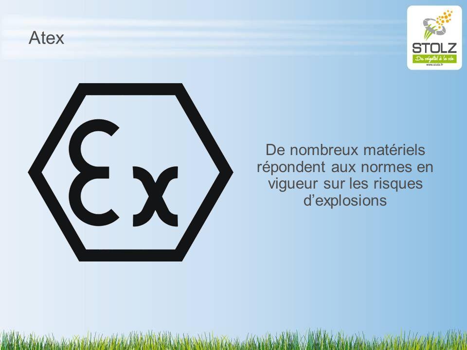 Atex De nombreux matériels répondent aux normes en vigueur sur les risques d'explosions