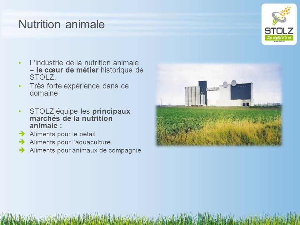 Nutrition animale L'industrie de la nutrition animale = le cœur de métier historique de STOLZ. Très forte expérience dans ce domaine.