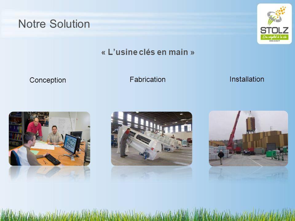Notre Solution « L'usine clés en main » Conception Fabrication