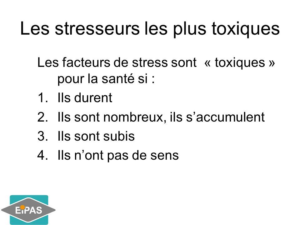 Les stresseurs les plus toxiques
