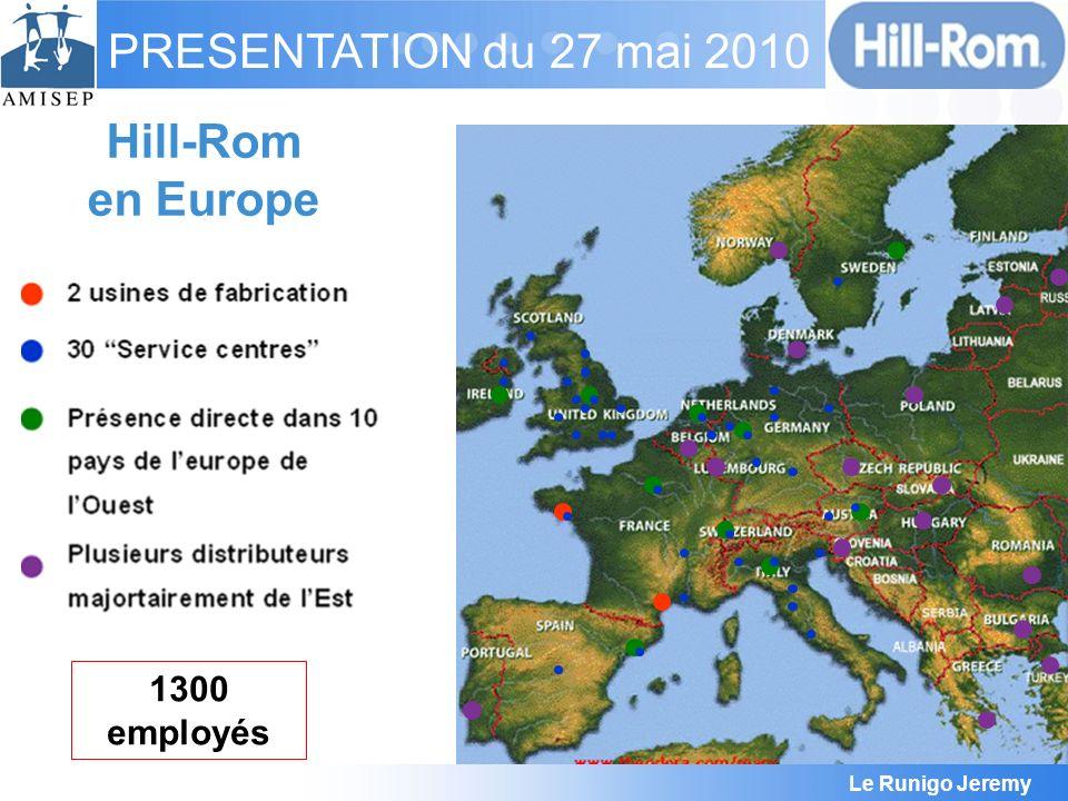 Hill-Rom en Europe 1300 employés