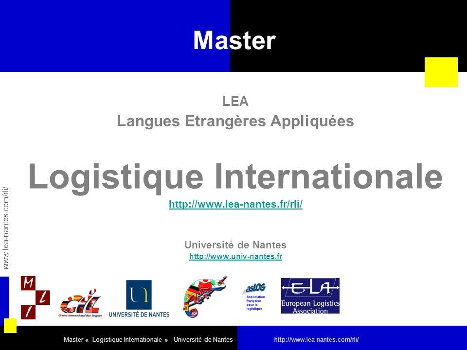 Langues Etrangères Appliquées Logistique Internationale