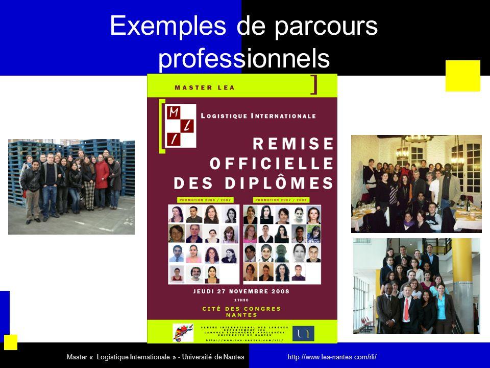 Exemples de parcours professionnels