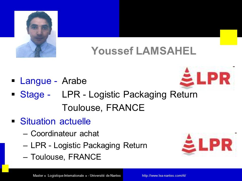 Youssef LAMSAHEL Langue - Arabe