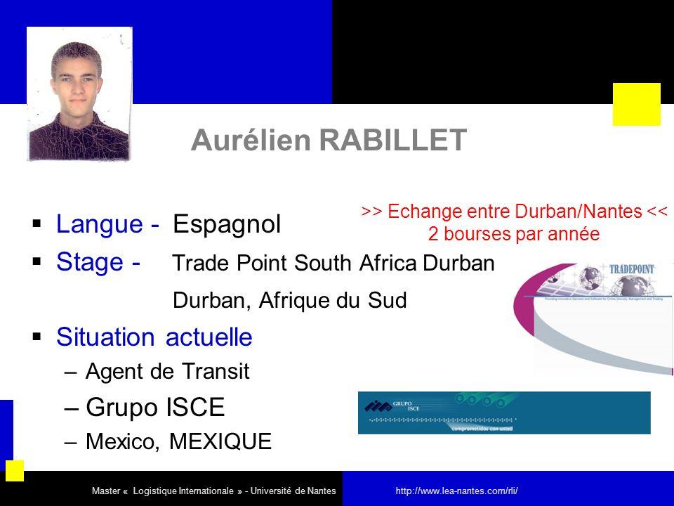 >> Echange entre Durban/Nantes <<